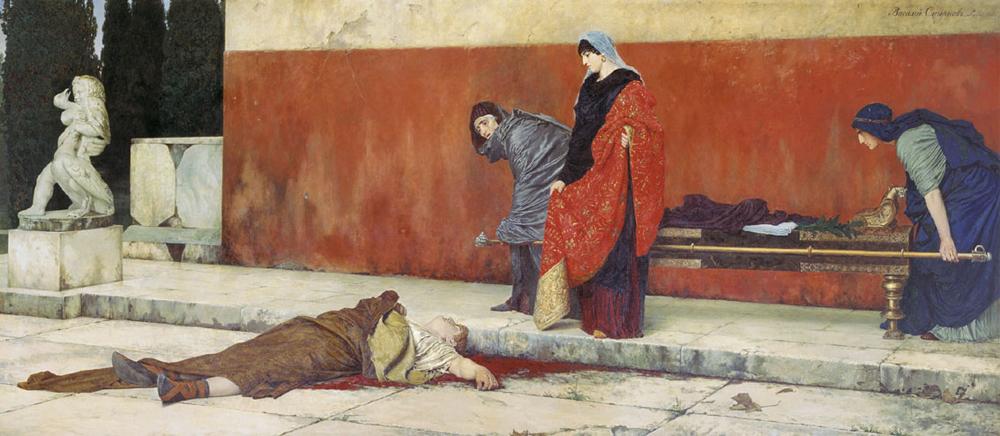 Смерть Нерона. Смирнов В. С., 1888 год.