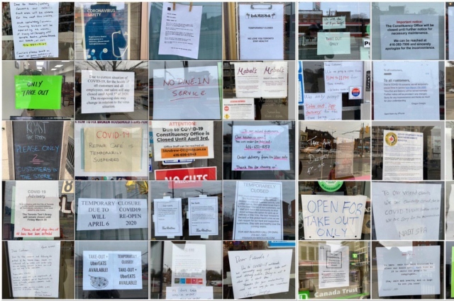 В Торонто почти все закрыто «до особого распоряжения»