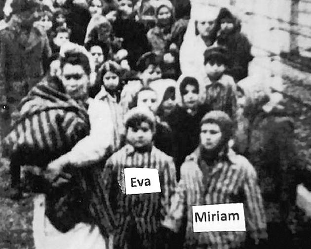 Среди освобождённых – жертвы экспериментов доктора Менгеле сёстры-близнецы Ева и Мириам Кор.