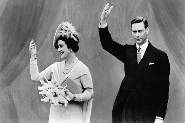 Король Георг VI и королева Елизавета на ярмарке мира в 1939 году в Нью-Йорке
