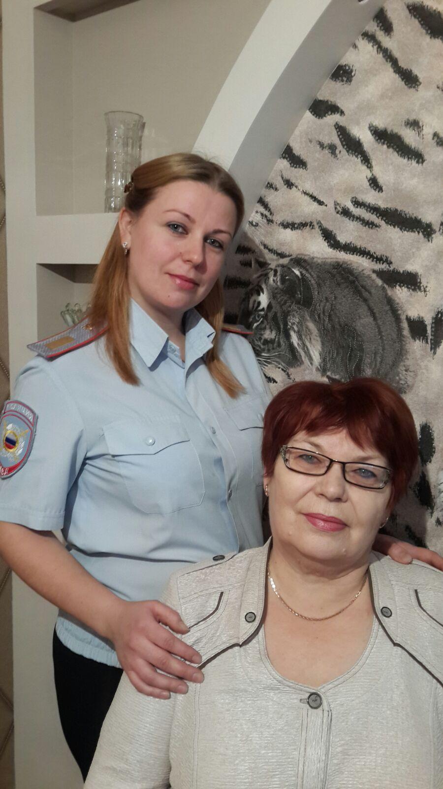 О.А. Катречко с мамой Кравченко Л.В.