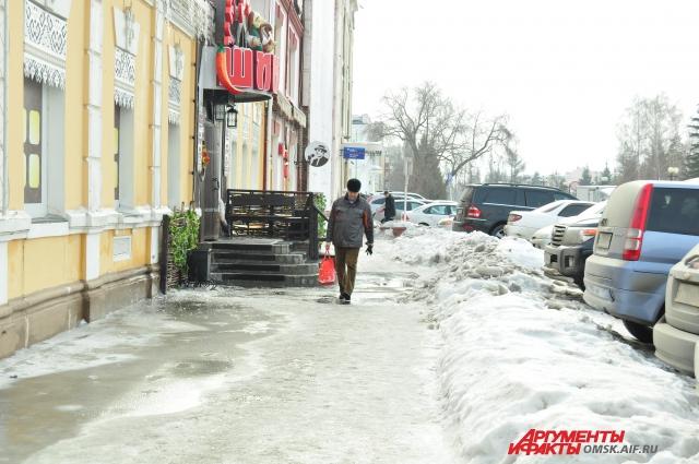 Омск поразил Русину обилием льда на дорогах.