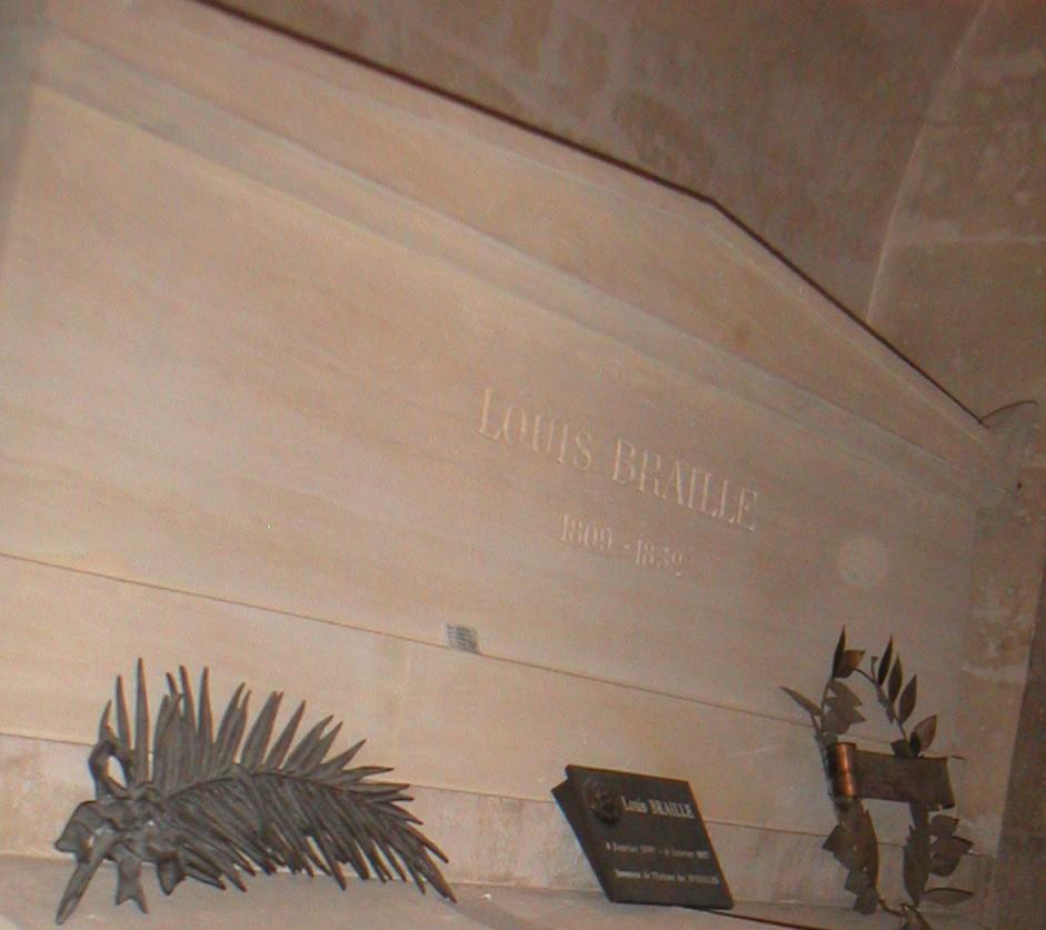 Могила Брайля в Пантеоне в Париже.