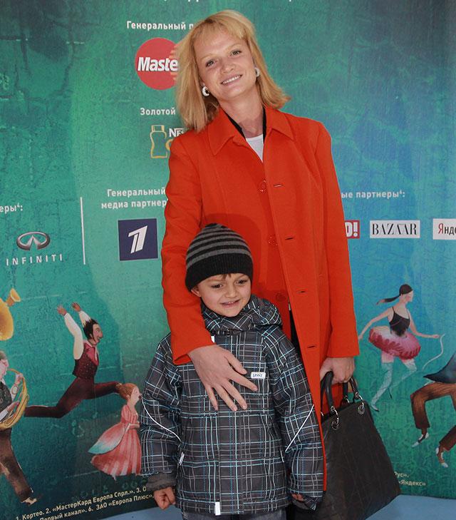 Светлана Хоркина с сыном Святославом.