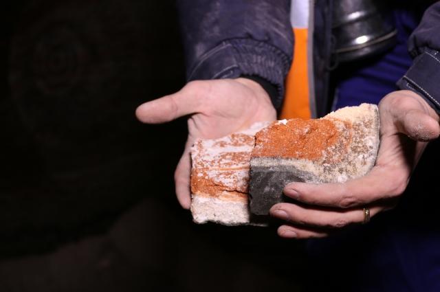 Первый сильвинит, добытый на новом руднике компании с Палашерского участка Верхнекамского месторождения калийных солей.