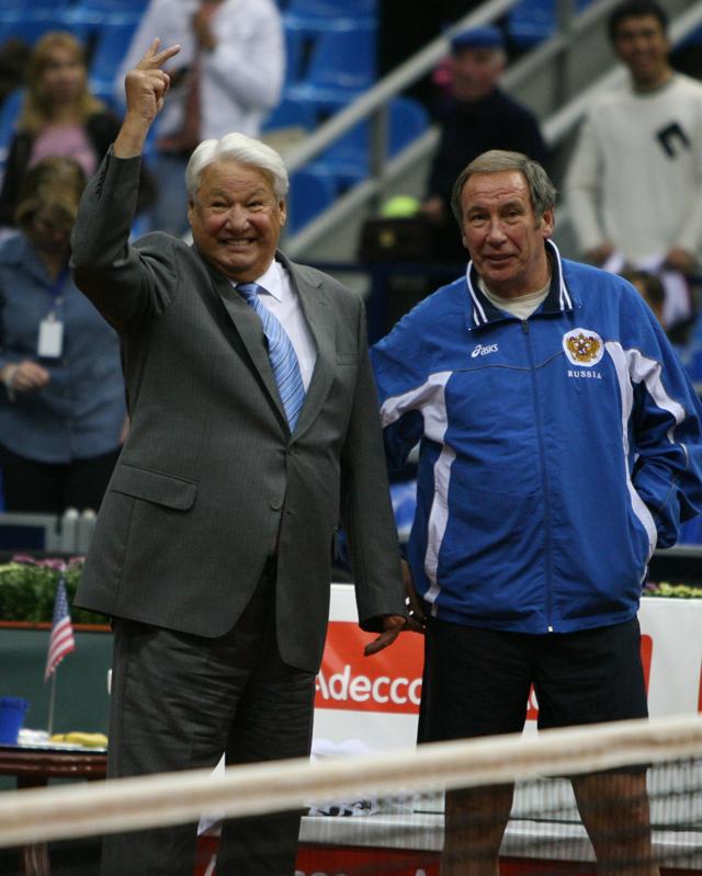 Шамиль Тарпищев и  Борис Ельцин.