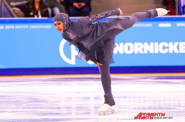 Фигуристка в хиджабе стала любимицей публики.