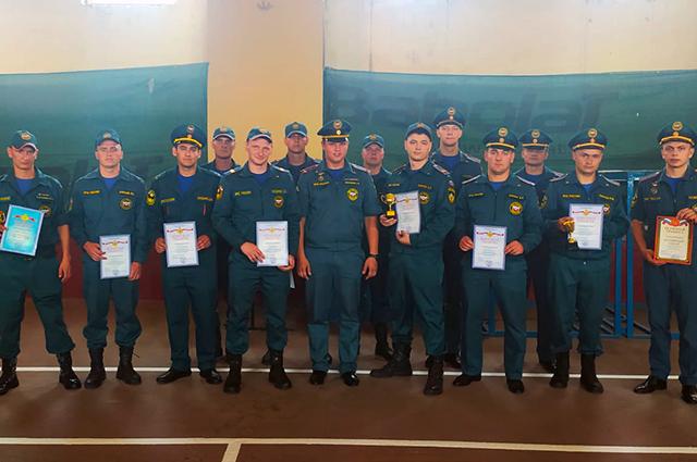 Олег Боярчук на конкурсе пожарных.