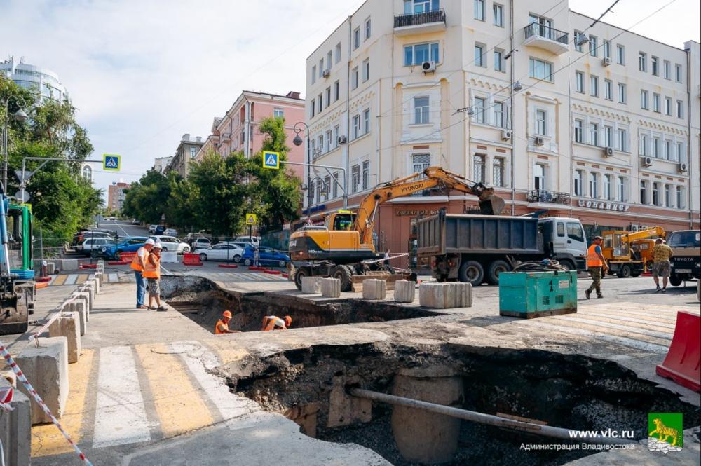 ремонт теплотрассы на ул. Светланской