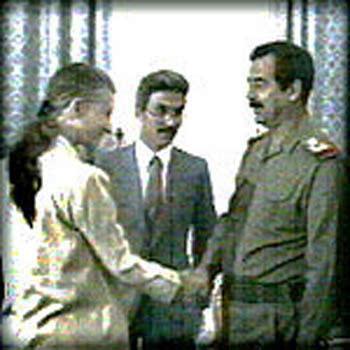 Встреча Эйприл Глэспи и президента Ирака Саддама Хусейна 25 Июля 1990 года