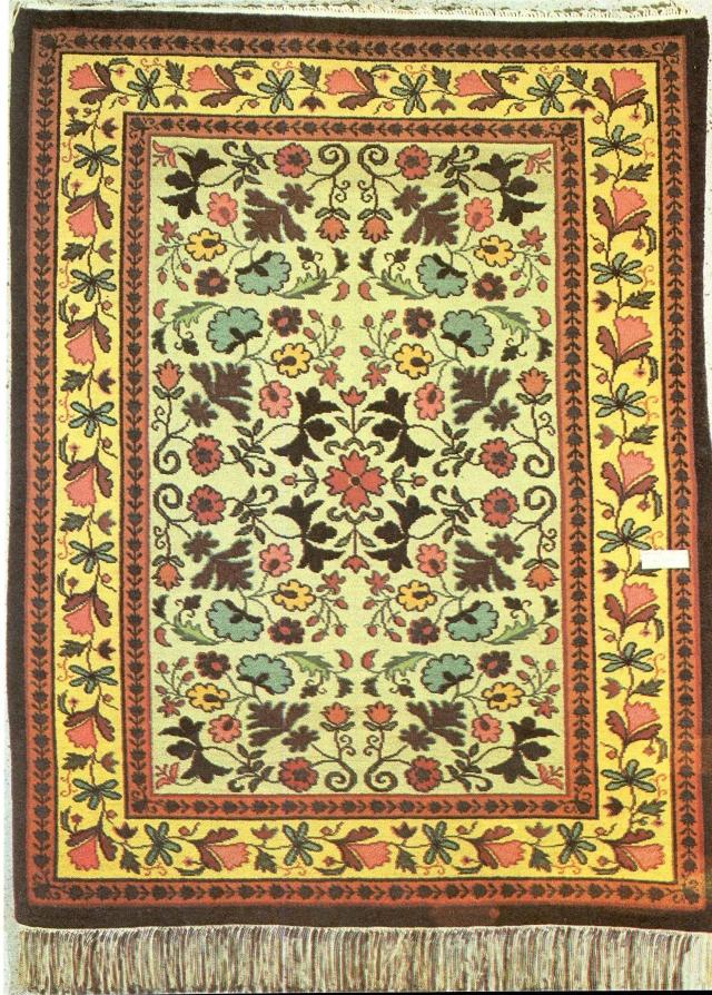 Шерстяной ковёр ручной работы. Елабуга, 1980-е годы
