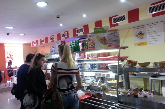 Сеть столовых «Еда всегда». Наибольший пик посетителей приходится на время с 12.00 до 15.00.