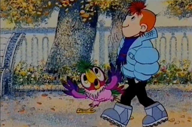 Кадр из мультфильма «Возвращение блудного попугая», 1984 г.