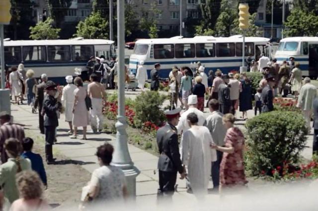 Эвакуация жителей Припяти.
