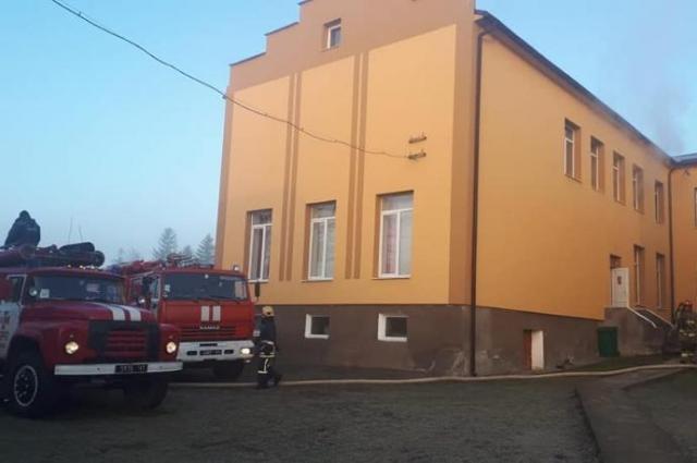 Школа, в которой произошел пожар