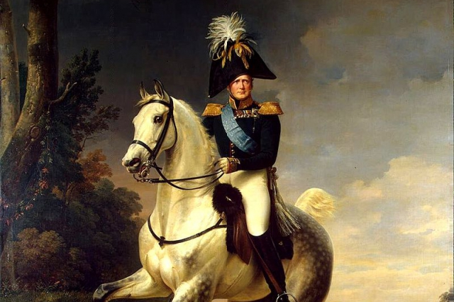 Александр I в 1814 году под Парижем.