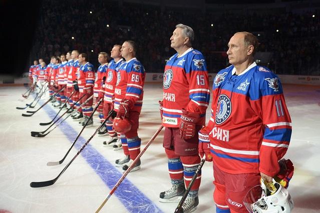 В том матче Владимир Путин забил восемь шайб.