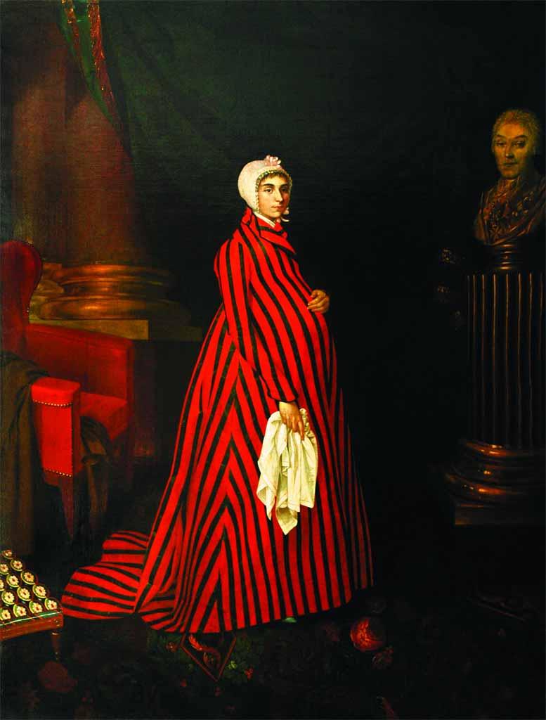 Фрагмент портрета Прасковьи Жемчуговой работы Николая Аргунова. Нажмите для просмотра полной версии