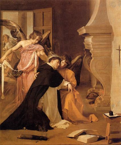 Искушение святого Фомы Аквинского, Диего Веласкес. Ориуэла, Епархиальный музей. 1632