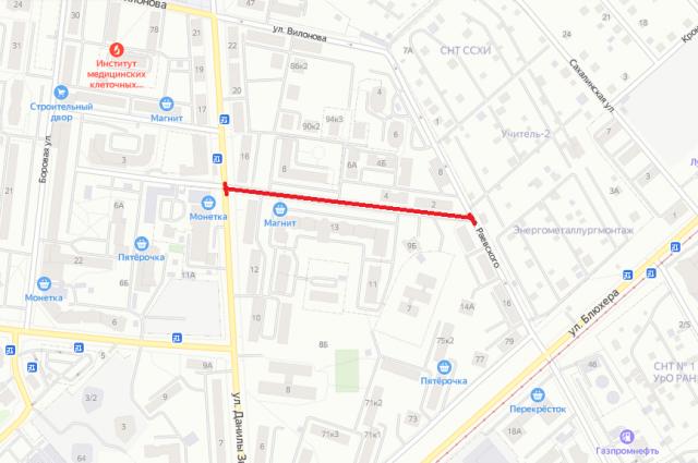 Перекрытие улицы Ирбитской.