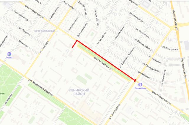 Перекрытие улицы Волгоградской.