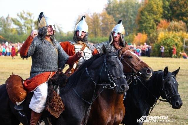 Русские воины, готовые отдать жизнь за родную землю