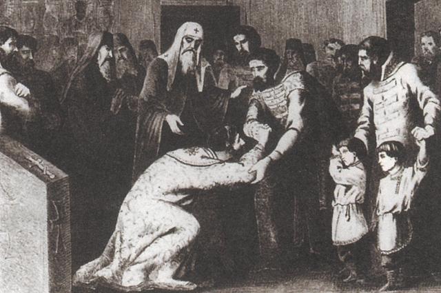 Василия Темного свергли и ослепили.
