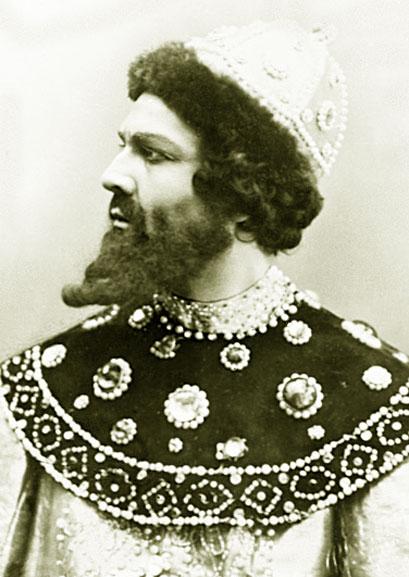 Федор Шаляпин в роли Бориса Годунова. 1912 год
