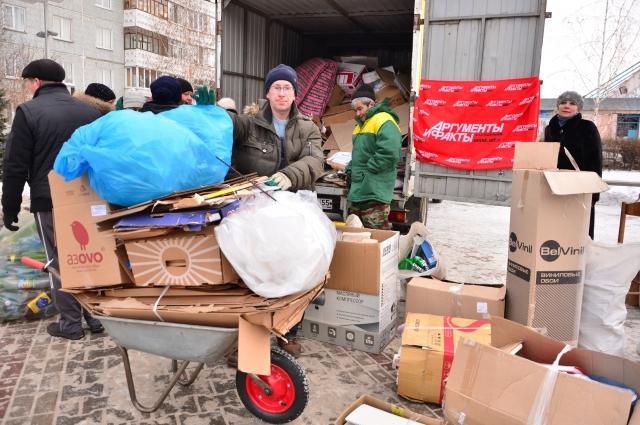Омичи сдали более 1700 кг бумаги.