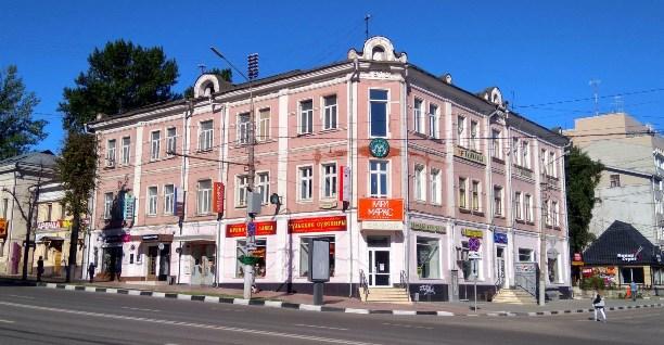Дом (угол пр.Ленина и Каминского), где жил В.Легасов в Туле