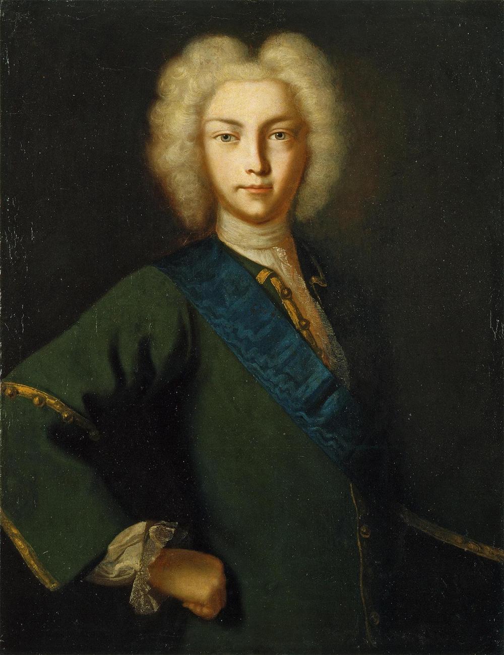 Портрет Петра II, неизвестный художник.