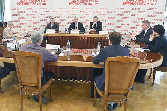 Общение с главой Калужской области прошла в конференц-зале «Аргументы и факты».