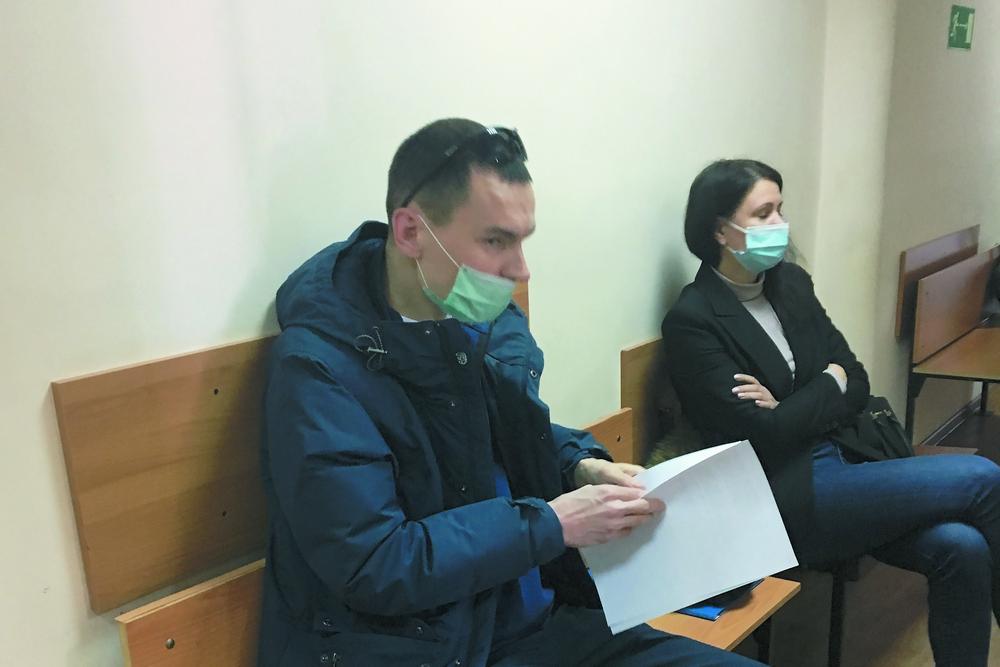 Догхантер Кислицын в суде.