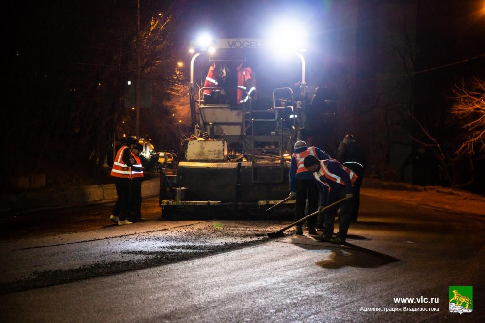 ремонт дорог идет с применением производительной техники