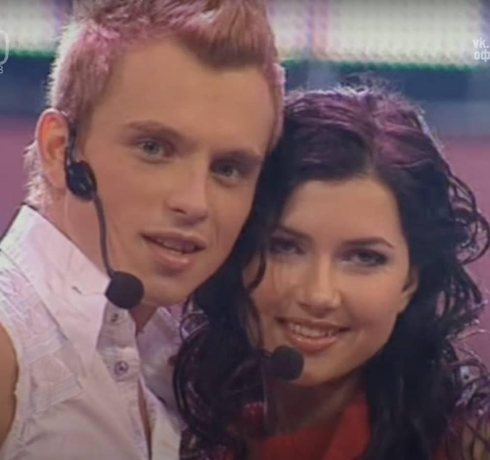 Никита Малинин и Мария Вебер на «Фабрике звезд», 2003 год.