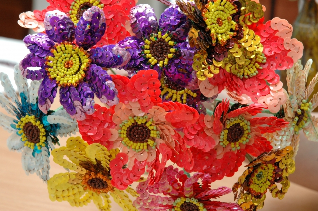 бисер, цветы, рукоделие