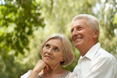 любовь, пара, старики
