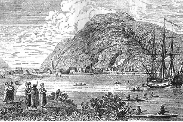 Поселение Григория Шелихова на острове Кадьяк.