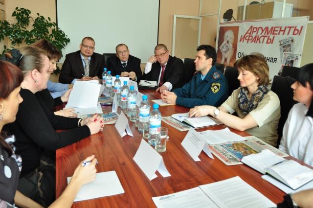 Круглый стол, посвящённый вопросам охраны труда, состоялся в пресс-центре «АиФ в Омске».