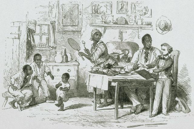 Хижина дяди Тома . Иллюстрация 1852 года