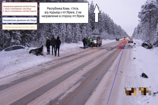 Водитель Kia Optima не справился с рулевым управлением и выехал на встречную полосу.