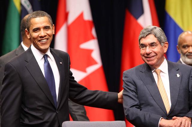 Барак Обама и Оскар Ариас.