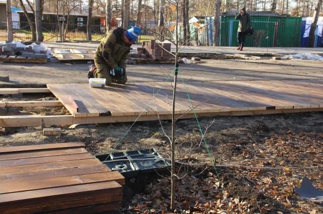 Так приводили в порядок Советский парк.