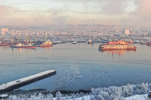 Мурманск - незамерзающий порт на Баренцевом море