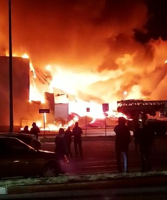Пожар в ТРЦ