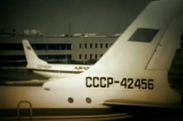 Ту-124 в аэропорту «Смольное»