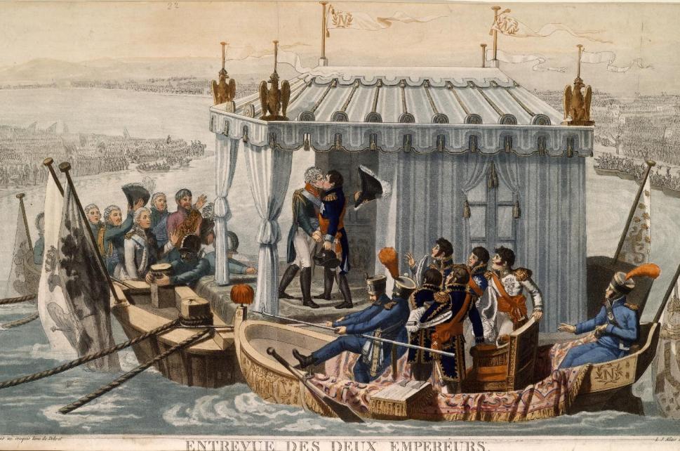 Дебре Жан Франсуа. Встреча двух императоров на Немане