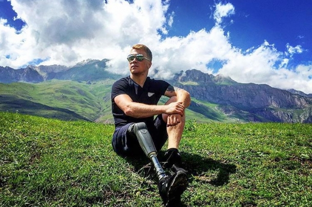 Евгений и его родные сочинские горы.