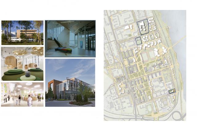 Проект новых школы, больницы и детского сада.