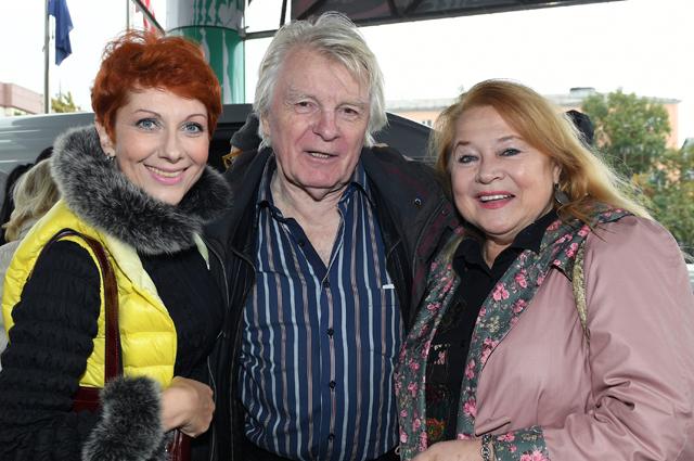 Актеры Оксана Сташенко, Юрий Назаров и Людмила Мальцева. 2016 год.
